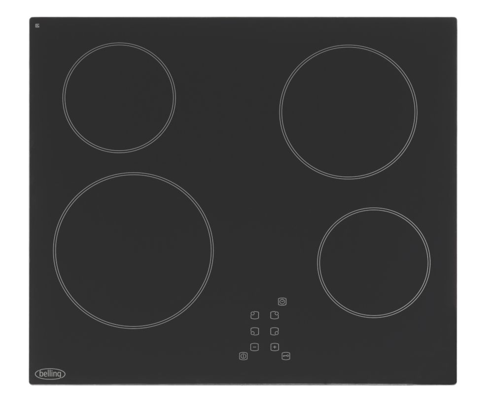 Image of Belling CH60TX Ceramic Hob Black 520 x 590mm