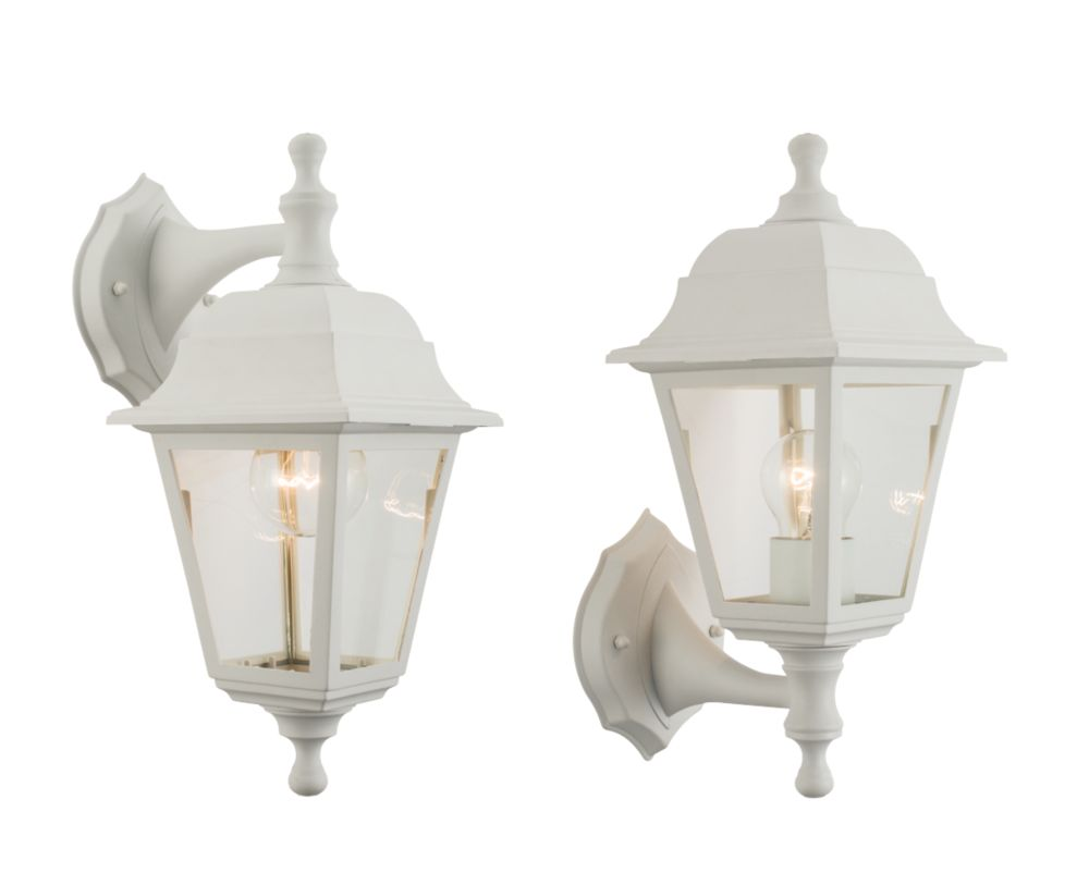 Image of Saxby 40W White Outdoor Wall Light