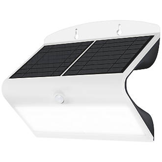 Image of Luceco LED Solar Wall Light with PIR White