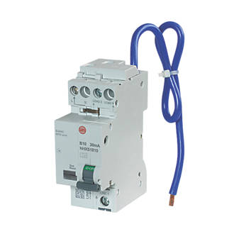 Image of Wylex 10A 30mA SP & N Type B AFDD + RCBO