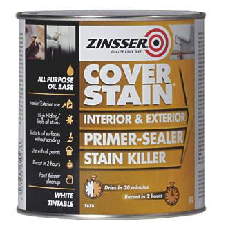 Image of Zinsser Cover Stain Primer White 1Ltr