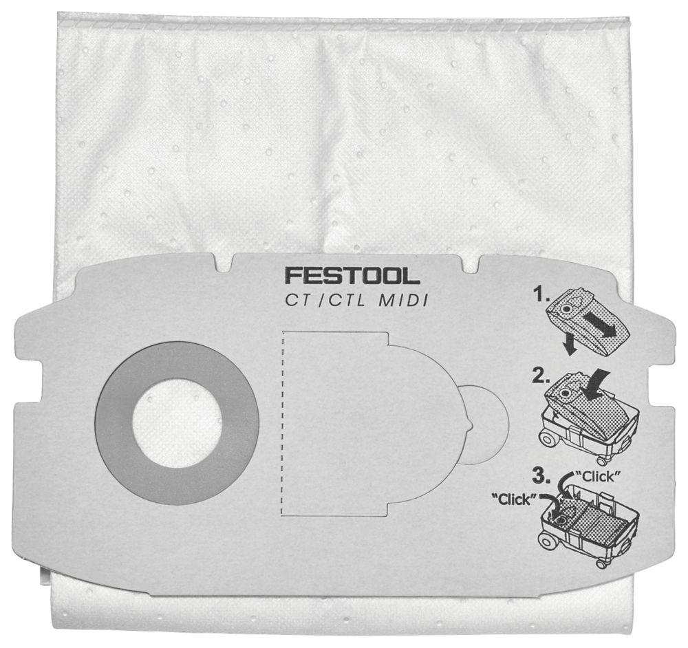 Image of Festool CTL Midi Self-Clean Extractor Filter Bags 5 Pack