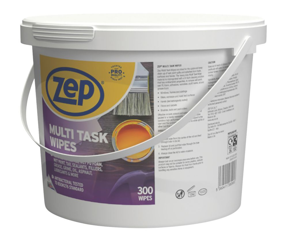 Image of Zep Commercial Multi-Task Wipes White 300 Pack