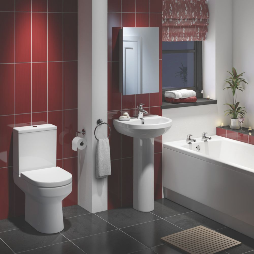 Image of Walker Contemporary Single Ended Bathroom Suite with Acrylic Bath