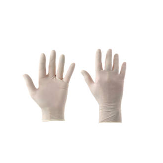 Image of Cleangrip Latex Powdered Disposable Gloves White Large 100 Pack