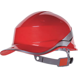 Image of Delta Plus Diamond V Premium Push-Button Safety Helmet Red