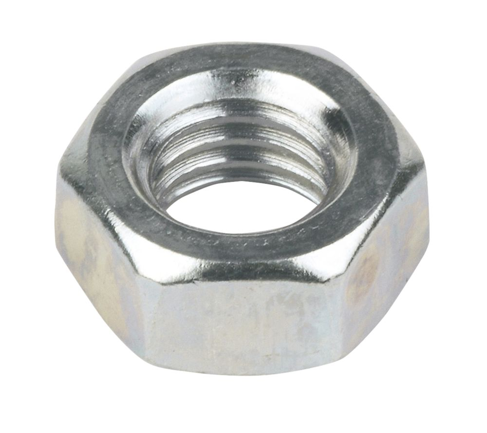 Image of Easyfix Hex Nuts Bright Zinc-Plated Steel M8 1000 Pack