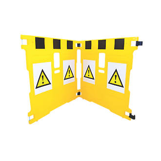 Image of Addgards Supergard 2-Panel Barrier Yellow