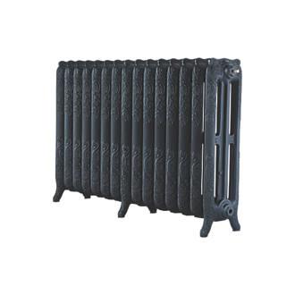 Image of Arroll 3-Column Cast Iron Radiator 760 x 1234mm Black