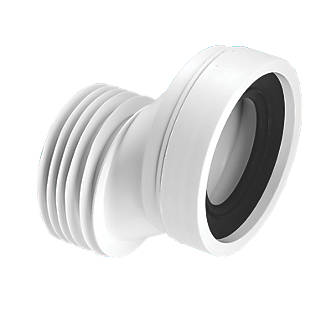 Image of McAlpine WC-CON4A 40mm Offset WC Pan Connector White 110mm