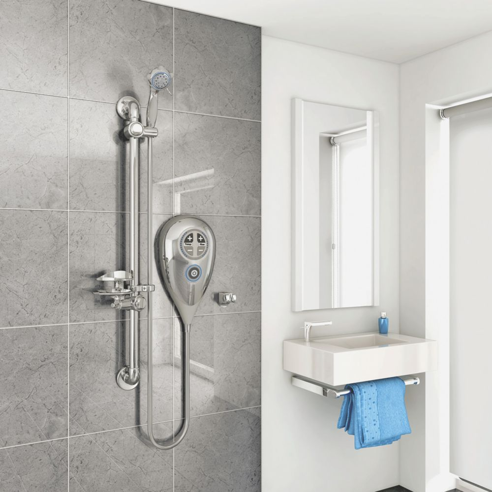 Image of AKW Luda S Thermostatic Electric Shower Chrome 10kW