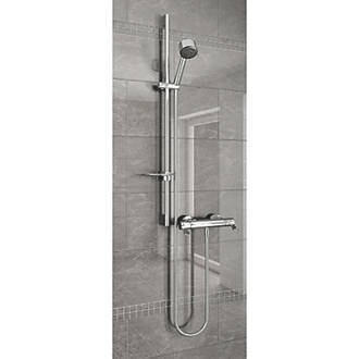 Image of AKW AKW Arka Rear-Fed Exposed Chrome Thermostatic Mixer Shower