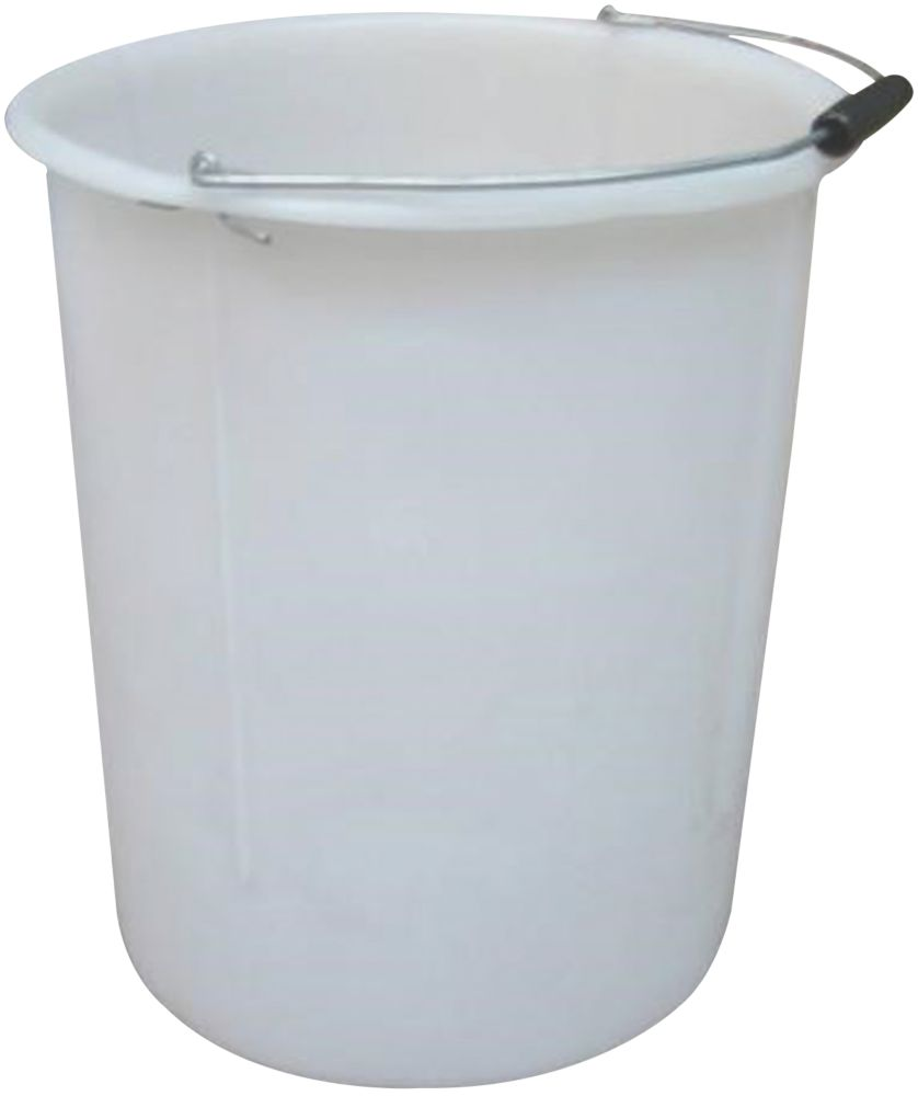 Image of Active Plasterer's Mixing Bucket White 30Ltr