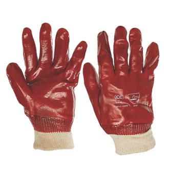 Image of Keep Safe PVC Gloves Red Large