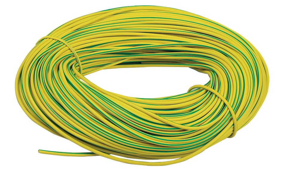 Image of PVC Sleeving 3mm x 100m Green/Yellow