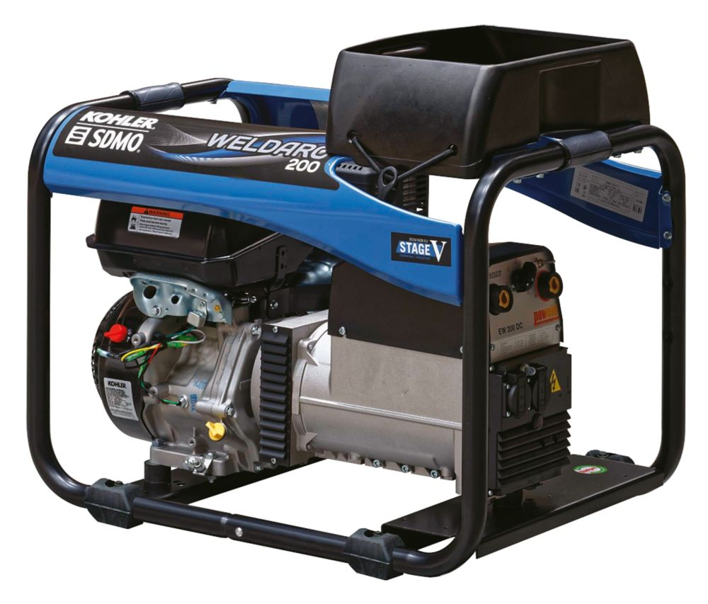 Image of SDMO 200E 4000W 200A DC Portable Generator & Welding Set 110/230V
