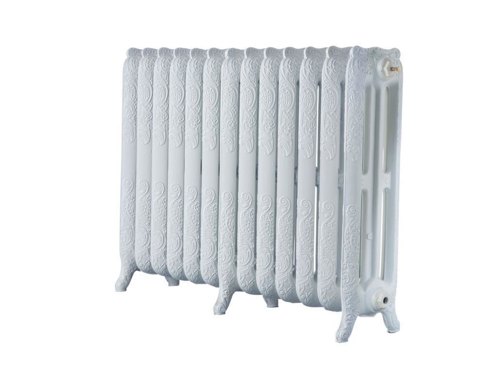 Image of Arroll 3-Column Cast Iron Radiator 760 x 1074mm White