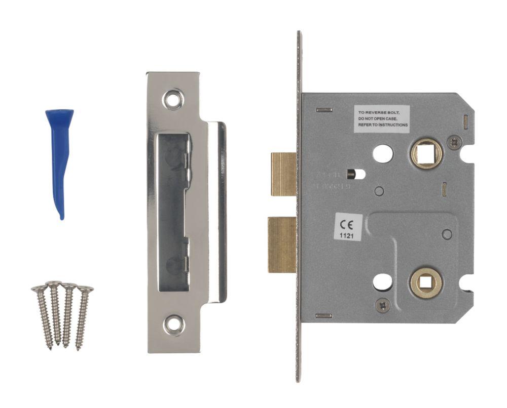 Image of Smith & Locke Bathroom Mortice Lock Polished Chrome 76 x 22mm