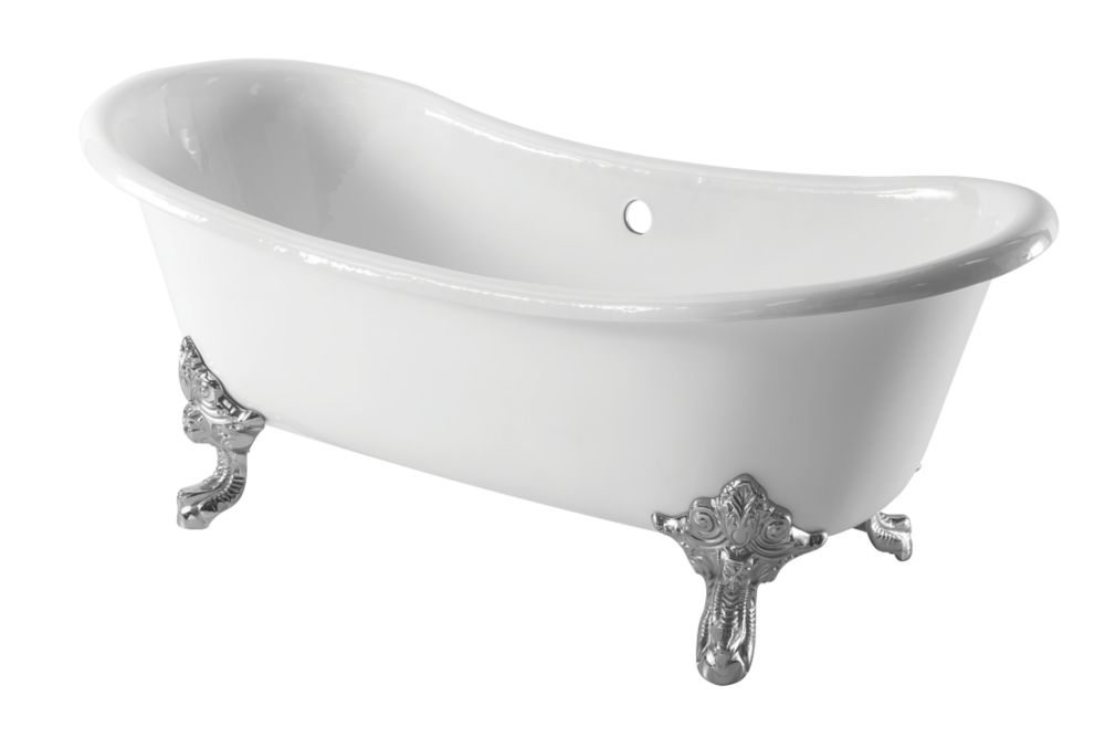 Image of Arroll Roll Top Bath Cast Iron No Tap Holes 1829mm