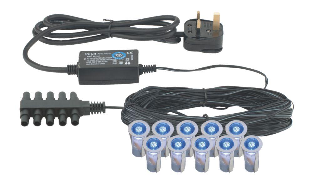 Image of Apollo LED Deck Light Kit Blue 15mm 10 Pack