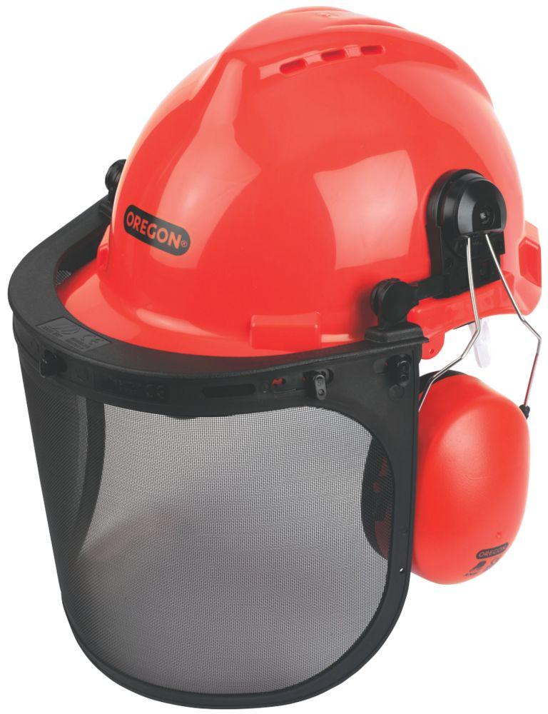 Image of Oregon Forestry Helmet with Ear Defenders & Visor