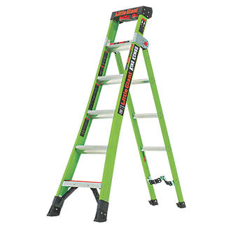Image of Little Giant 2-Section 3-Way Fibreglass & Aluminium 3-in-1 Extension Ladder 3m