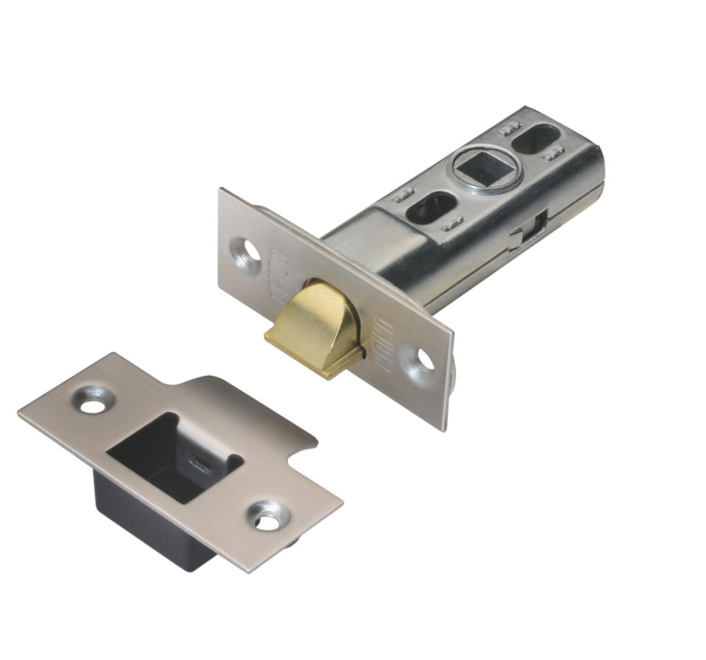 Image of Union Heavy Duty Tubular Mortice Latch Polished Brass & Stainless Steel 70mm