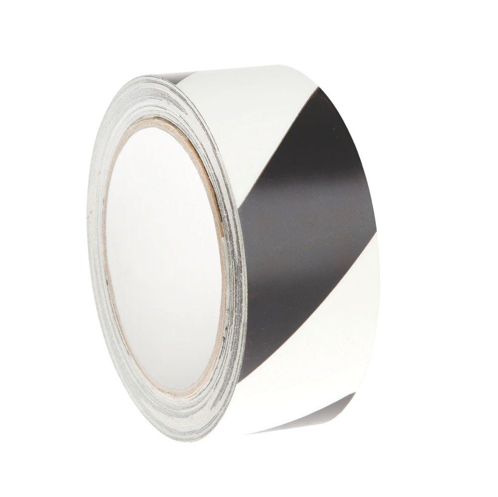 Image of Nite-Glo Chevron Safety Tape Luminescent / Black 40mm x 10m