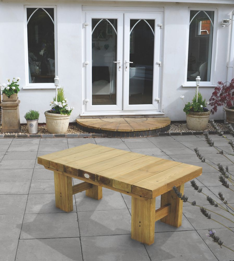Image of Forest Low Sleeper Garden Table 1225 x 600 x 445mm