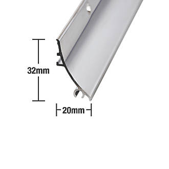 Image of Stormguard Rain Deflector Polished Aluminium 838mm