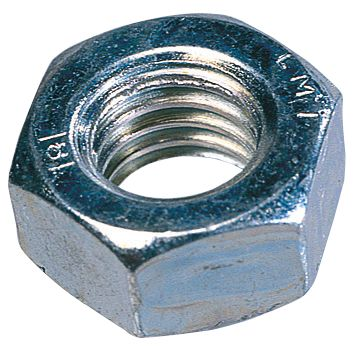Image of Easyfix Hex Nuts Bright Zinc-Plated Steel M10 100 Pack