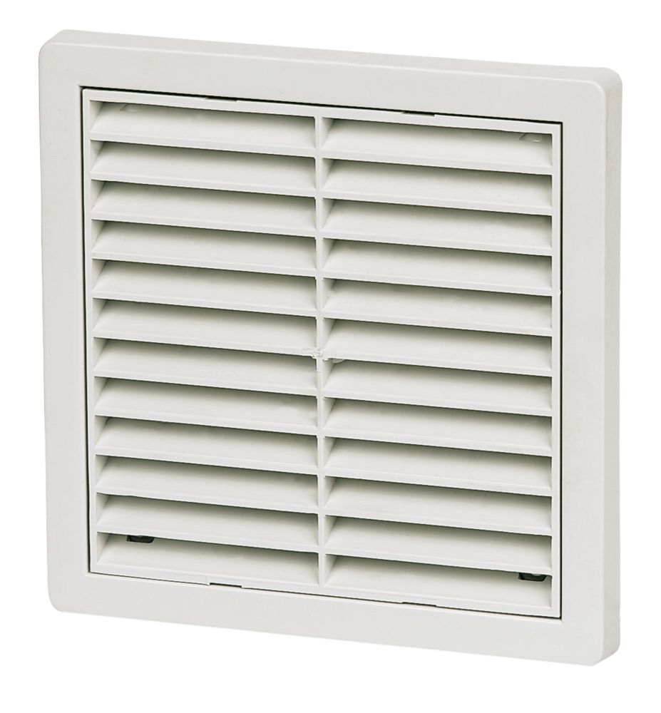 Image of Manrose Fixed Louvre Vent White 160 x 160mm