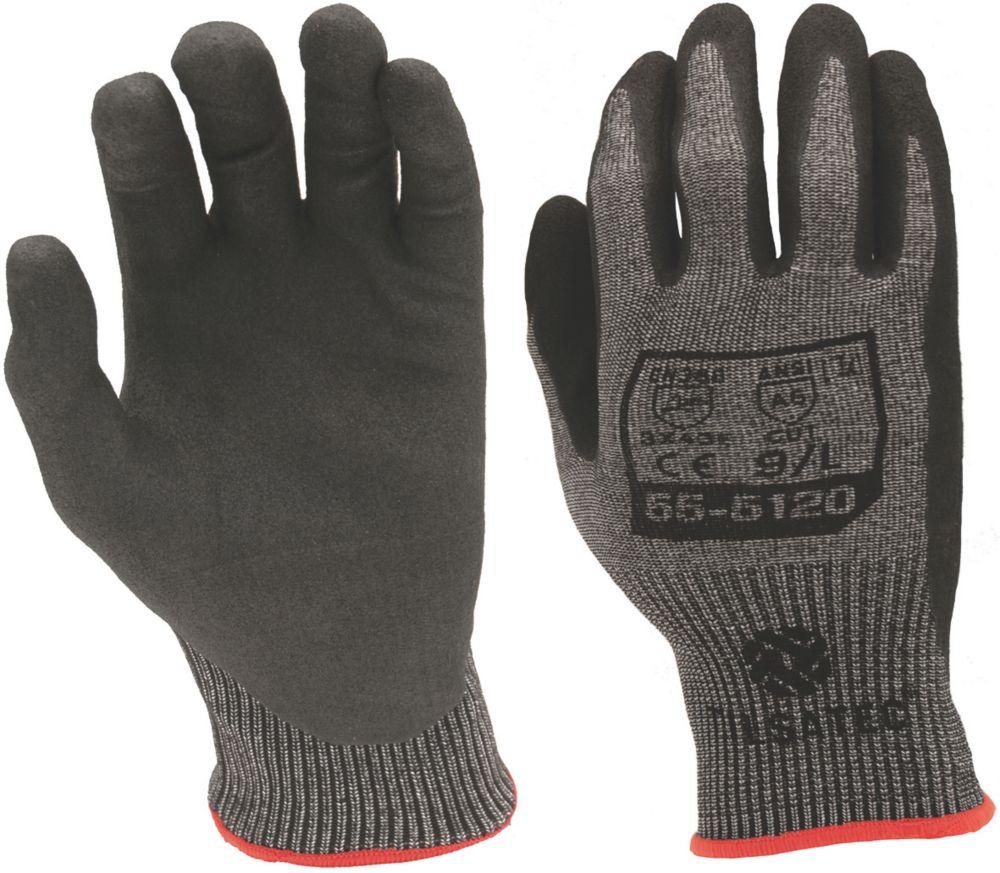 Image of Tilsatec 045NBR Cut 5 Nitrile Foam Gloves Grey / Black Extra Large