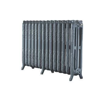Image of Arroll 3-Column Cast Iron Radiator 760 x 1154mm Cast Grey