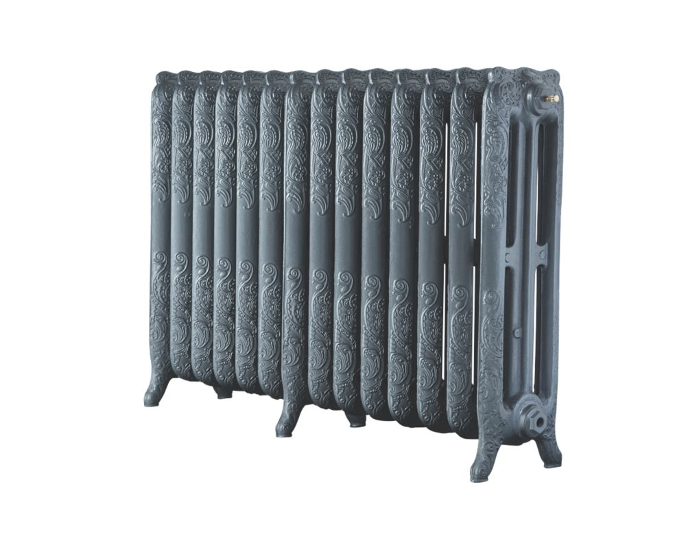Image of Arroll 3-Column Cast Iron Radiator 760 x 1154mm Cast Grey