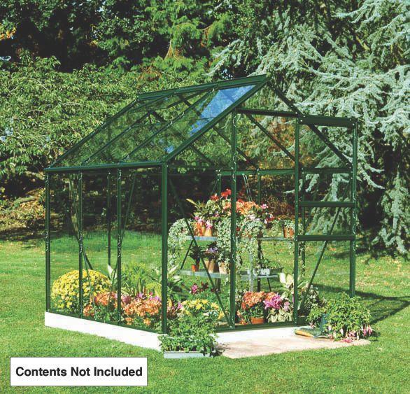 "Image of Halls Popular Framed Greenhouse Green 5' 10"" x 5' 10"""