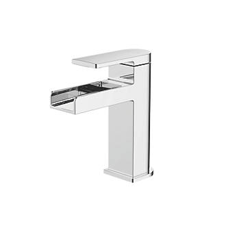 Image of Watersmith Heritage Niagara Waterfall Basin Mono Mixer Tap with Clicker Waste