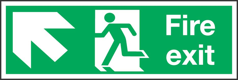 """Image of Fire Exit"""" Left Arrow Sign 150 x 450mm"""