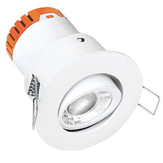 Image of Enlite E5 Adjustable Fire Rated LED Downlight White 440lm 4.5W 220-240V