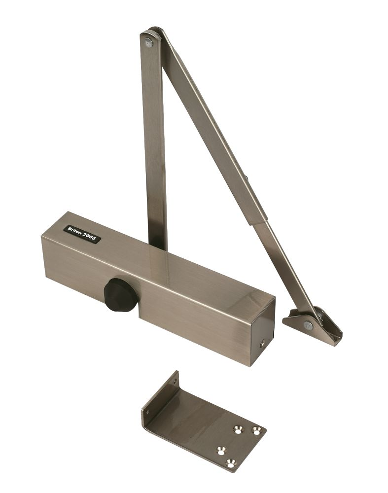 Image of Briton 2003SSS Overhead Door Closer Satin Stainless Steel