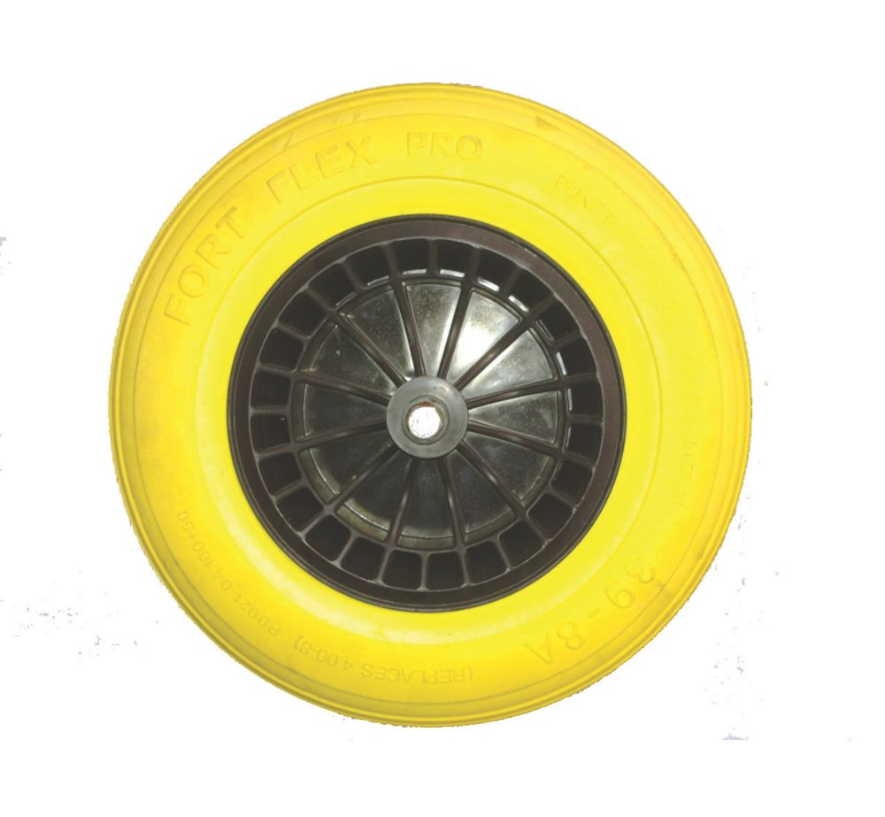 Image of Belle Group Fort Flex Pro Puncture-Proof Wheel Wheelbarrow Wheel Yellow / Black 150kg