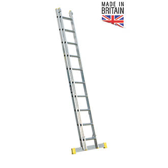 Image of Lyte 2-Section Aluminium Extension Ladders 4.88m