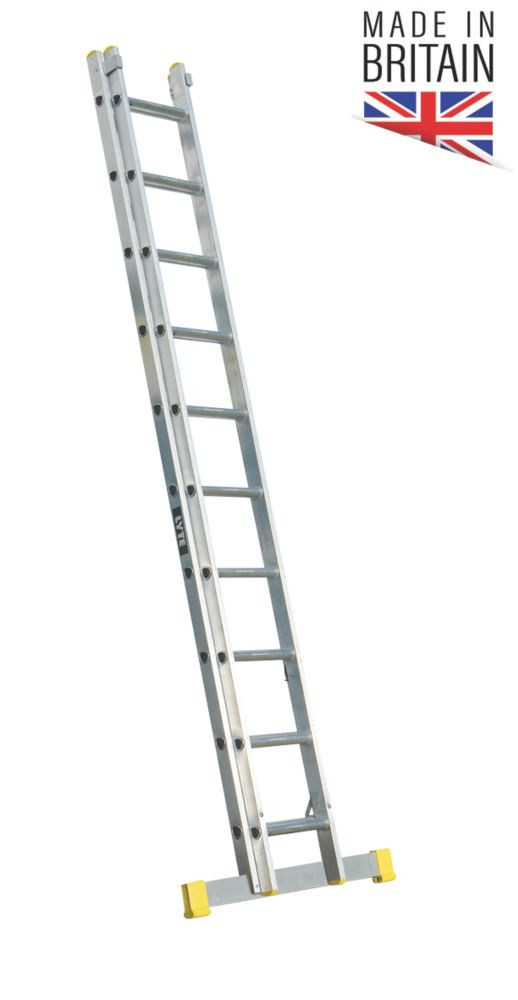 Image of Lyte 2-Section Aluminium Ladder 4.88m