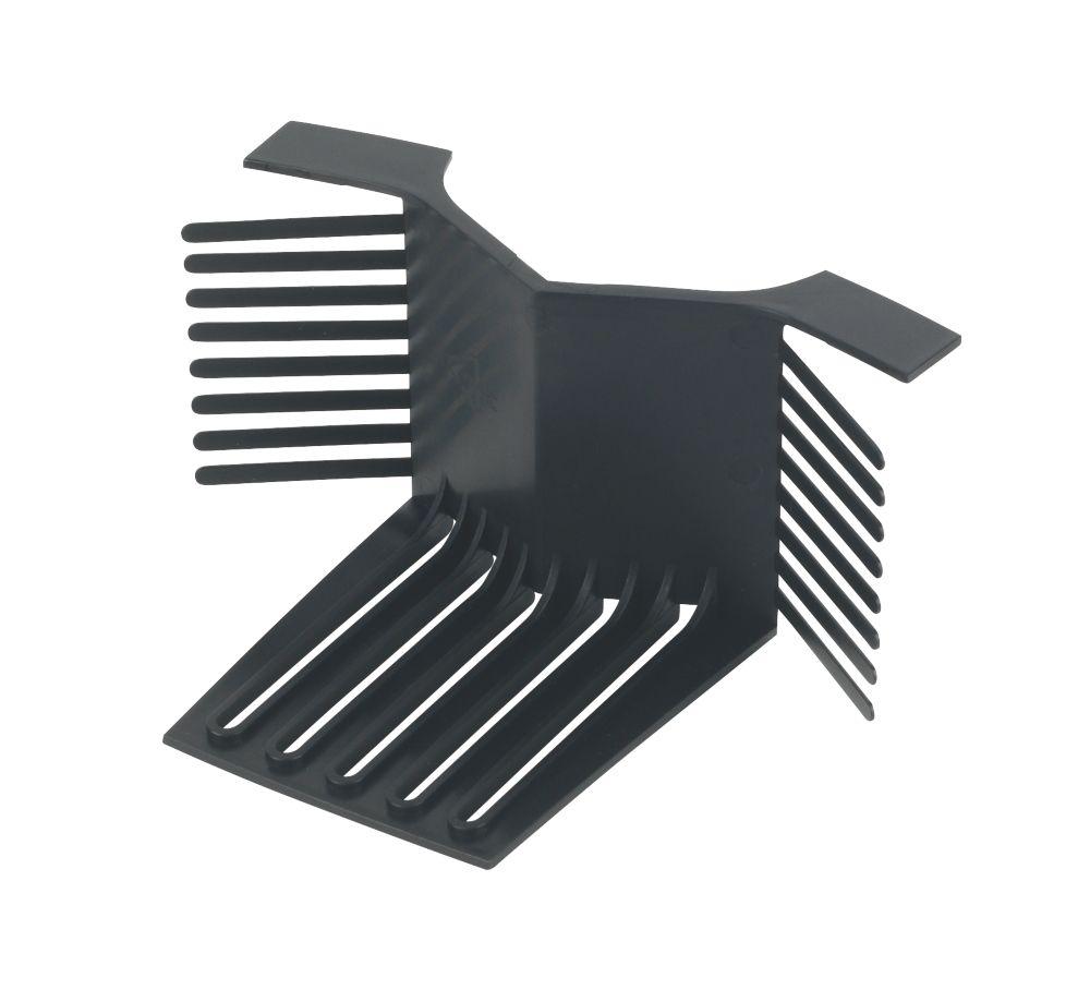 Image of Glidevale Black Universal Dry Verge End Caps 2 Pack