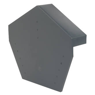 Image of Glidevale Grey Universal Dry Verge Angled Ridge Caps 2 Pack