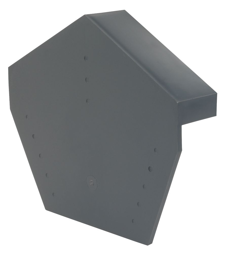 Image of Glidevale Grey Universal Dry Verge Angled Ridge Caps 2 Pack