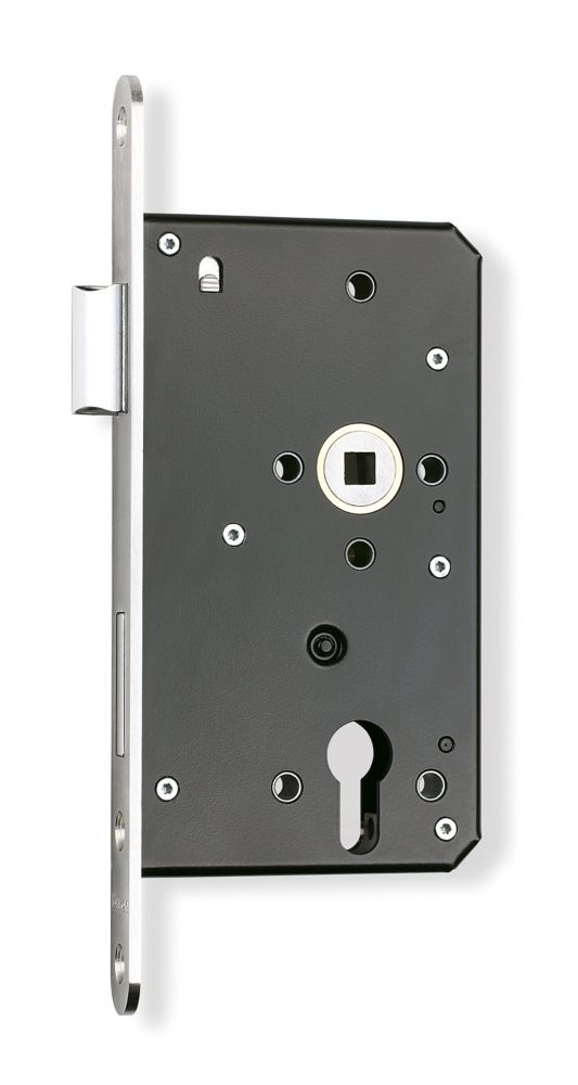 "Image of Briton Euro Profile Cylinder Sashlock - Square Forend Stainless Steel 2 1/3"""
