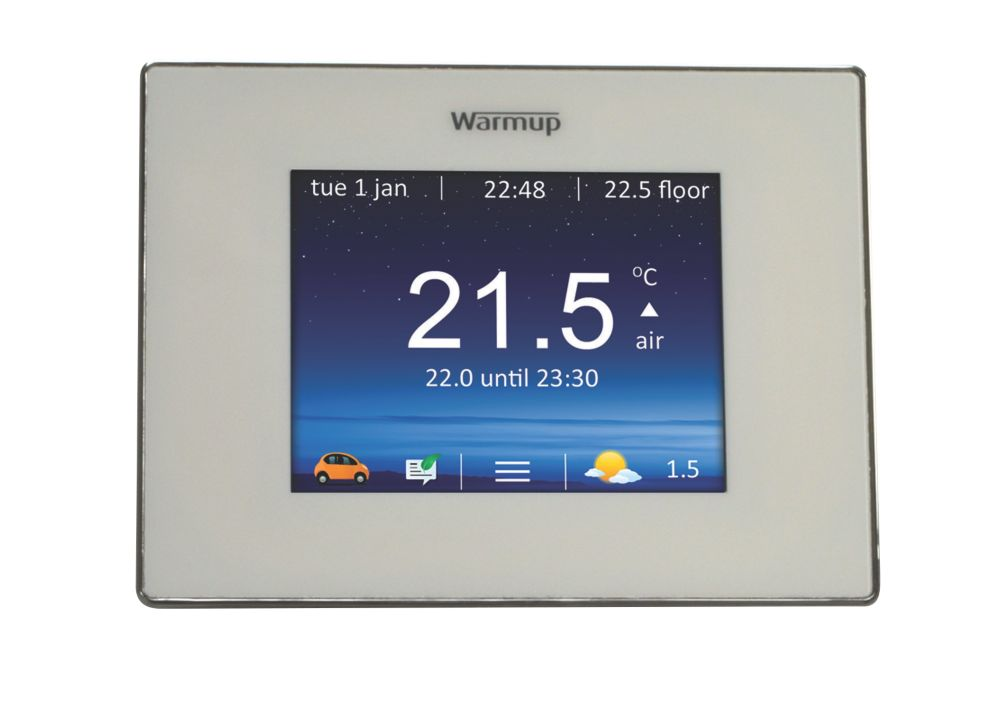 Image of Warmup 4IEBP WIFI Thermostat Controller Bright Porcelain