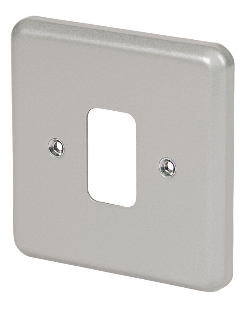 Image of MK 1-Gang Front Plate Metal-Clad