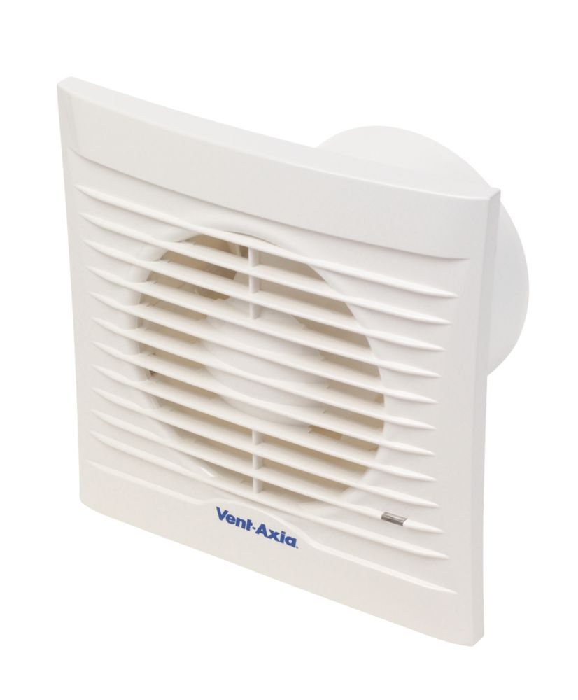 Image of Vent-Axia 100HT 15W Bathroom Extractor Fan with Humidistat & Timer White 240V